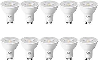 LE Bombilla LED GU10, 4W 350 lúmen, 2700K blanco cálido Lámpara LED GU10, Ángulo de haz de 36°, Bombillas GU10 Ahorro de energía reemplaza las bombillas halógenas de 50W, Paquete de 10