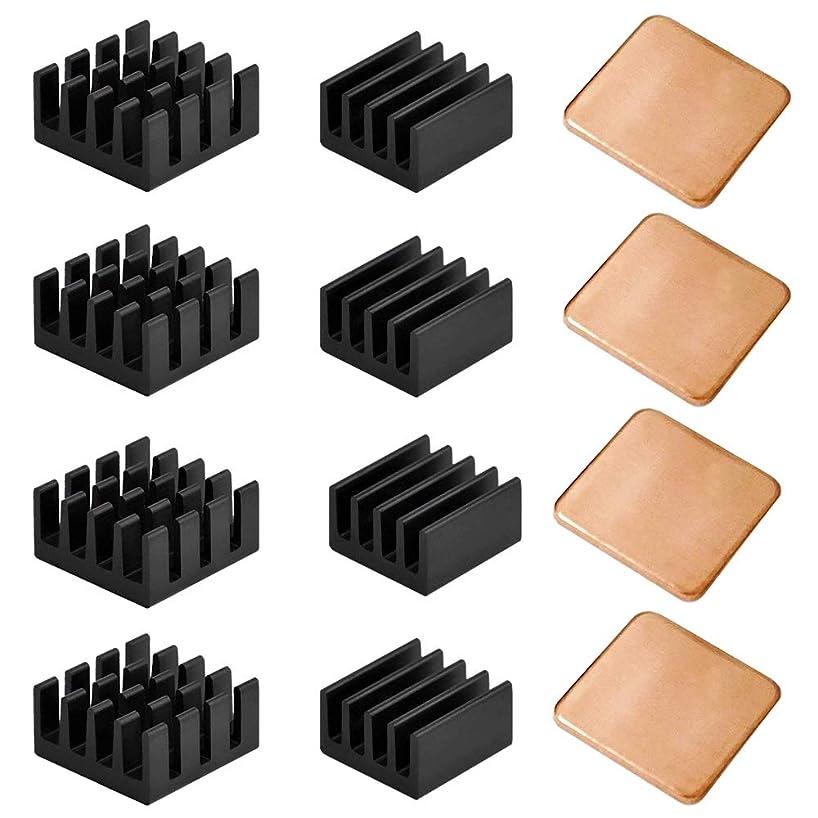 BestTong 30PCS Raspberry Pi Heatsink Kit Copper Raspberry Pi Aluminum Heatsink for Cooling Cooler Raspberry Pi 3, Pi 2, Pi Model B+