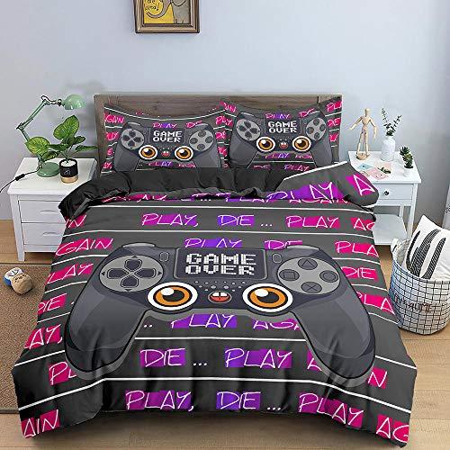 Bedclothes-Blanket Juegos de Fundas para edredón,Conjunto de Tres Piezas de impresión 3D de Kit de Ropa de Cama Almohada-8_264 * 228cm