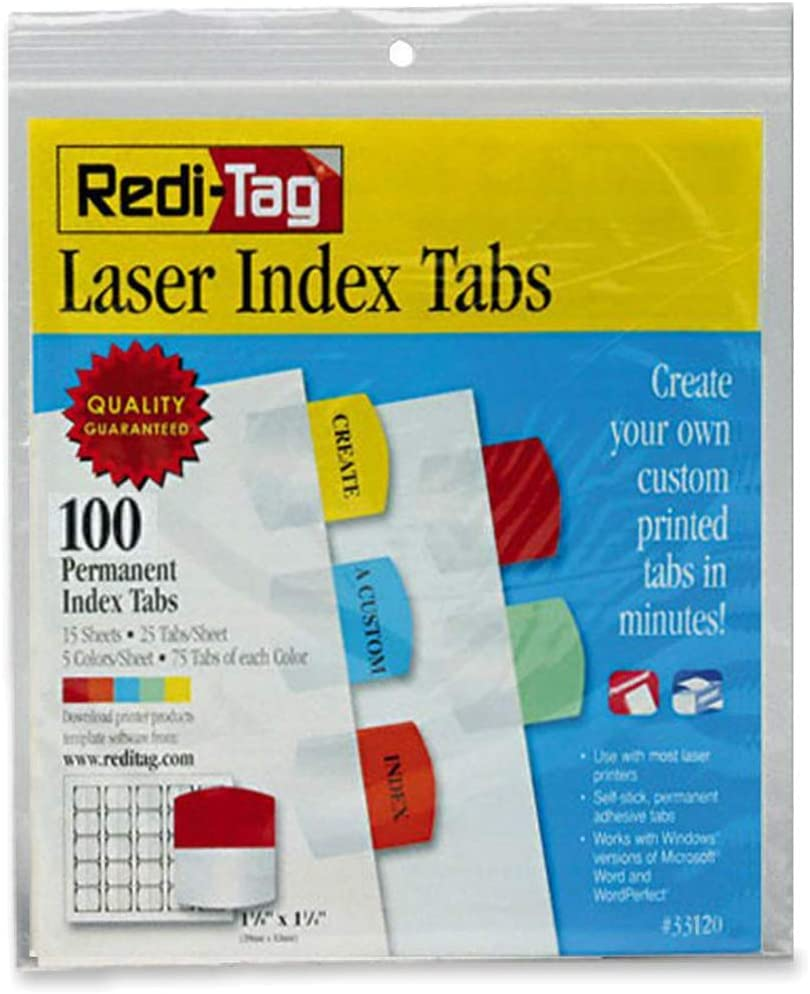 Redi-Tag Products - Laser Printable Daily bargain sale Tabs Index 1 8 2021