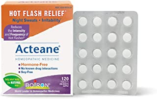 Boiron Acteane, 120 Tablets, Homeopathic Medicine for Hot Flash Relief