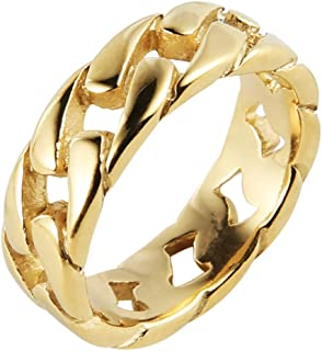 Best stainless steel gold ring Reviews