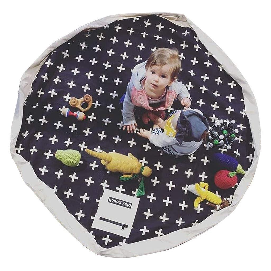リム配送章RANRANJJ プレイマットバッグ大ポータブルフロアアクティビティラグ折りたたみベビーキッズラグポータブル子供のおもちゃオーガナイザー用キッズ収納 (Color : C)