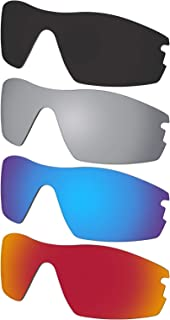 4 Pieces Lenses Replacement for Oakley Radar Pitch Sunglass Polarized - Dark Black & Silver Mirror & Blue Mirror & Red Mirror