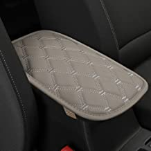 Black Panther PU Leather Auto Armrest Cover Protector Car Center Console Pad Universal Fit Most Vehicle Models - Diamond Gray