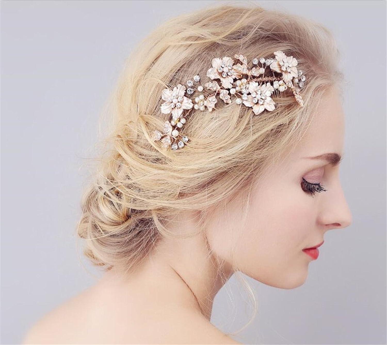 Bridal Hair Accessary, Bridal Flower Side Hair Clips Pearl Bridal Headpiece Wedding Accessories