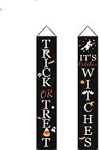 Queta Heiligen Deur Decoraties Truc of Treat Banner Veranda Teken met vleermuis Spider Patroon voor Halloween Huis Tuin Ou...