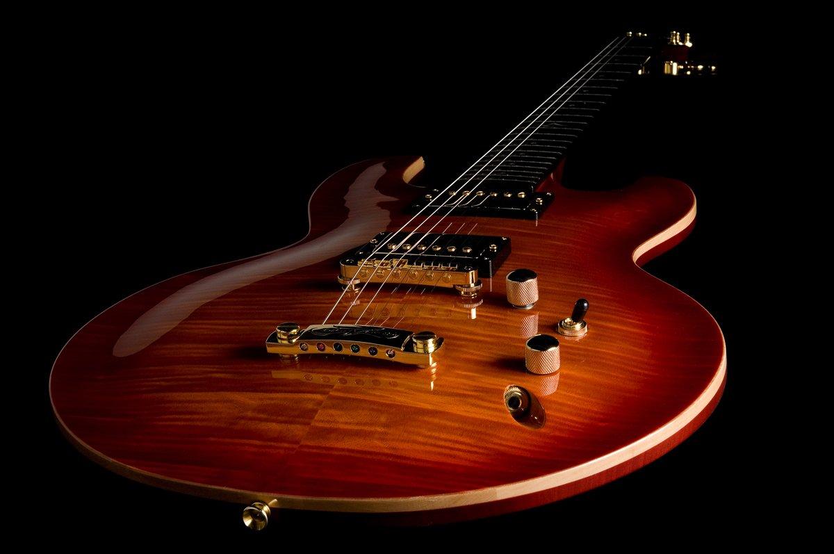 DBZ/diamantes guitarras imfm-atb Imperial FM Guitarra eléctrica, Amber Tobacco Burst: Amazon.es: Instrumentos musicales