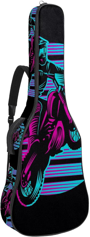 Acoustic Guitar Bag Thick Padding Dual Columbus Mall Sho Adjustable depot Waterproof