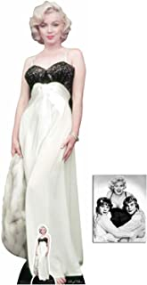 Fan Pack - Marilyn Monroe White Gown and Fur Lifesize and Mini Cardboard Cutout / Standup / Standee - Includes 8x10 Star Photo