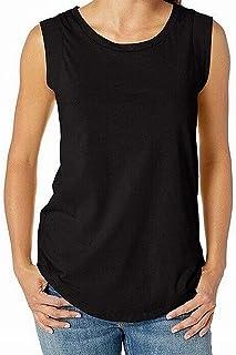 Alternative Black Womens US Size XS Round-Hem Scoop-Neck Knit Top