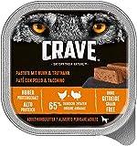 CRAVE Premium Pastete für Hunde – Getreidefreies Adult Nassfutter in der Schale (10 x 300 g)