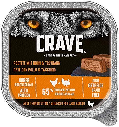 CRAVE Comida húmeda Pavo y Pollo para Perros, sin Cereales, con Alto Contenido en proteínas, 10 x 300 g