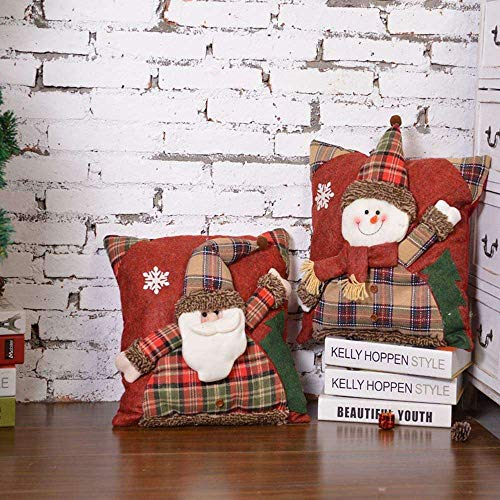 YuKeShop Almohada de Navidad, Decoración de Navidad Hombre Viejo Muñeco de Nieve Sofá Casa Casa Dormitorio Cojín Dibujos Animados Muñeca Almohada