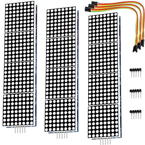AZDelivery 3 x MAX7219 8x32 4 en 1 Dot Matriz Modulo de Pantalla LED Matrix para Arduino con ebook Gratis!