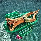 WZXHN 180 cm Gigante Verde Cactus Tumbona en la Piscina Flotador 2020 más Nuevo Anillo de natación Flotador de Agua colchón de Aire Tubo Inflable Juguetes Tumbona -180 * 140 * 20 cm