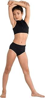 Danshuz Youth Zip up Scuba Dance Costume Performance Top