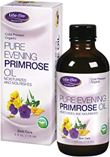 Life-flo Pure Evening Primrose Oil, Organic | Soothes, Balances and Hydrates Dry, Problem Skin and Scalp, 4oz