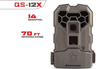 Stealth Cam QS12X 14.0-Megapixel Trail Camera Burst Mode Image Triggering Video and Photo 12 IR Emitters