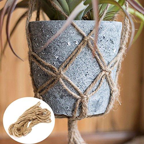 EgBert 40 Inch Flower Pot Plant Hanger Macrame Jute Rope Indoor Outdooors Decorative Cord