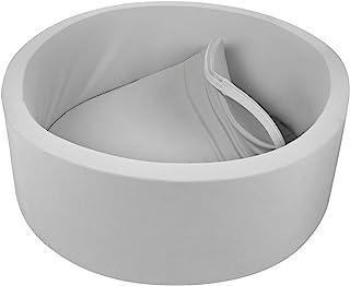 TRENDBOX Memory Foam Ball Pit for Baby Toddler Soft Round Ball Pool - Light Gray
