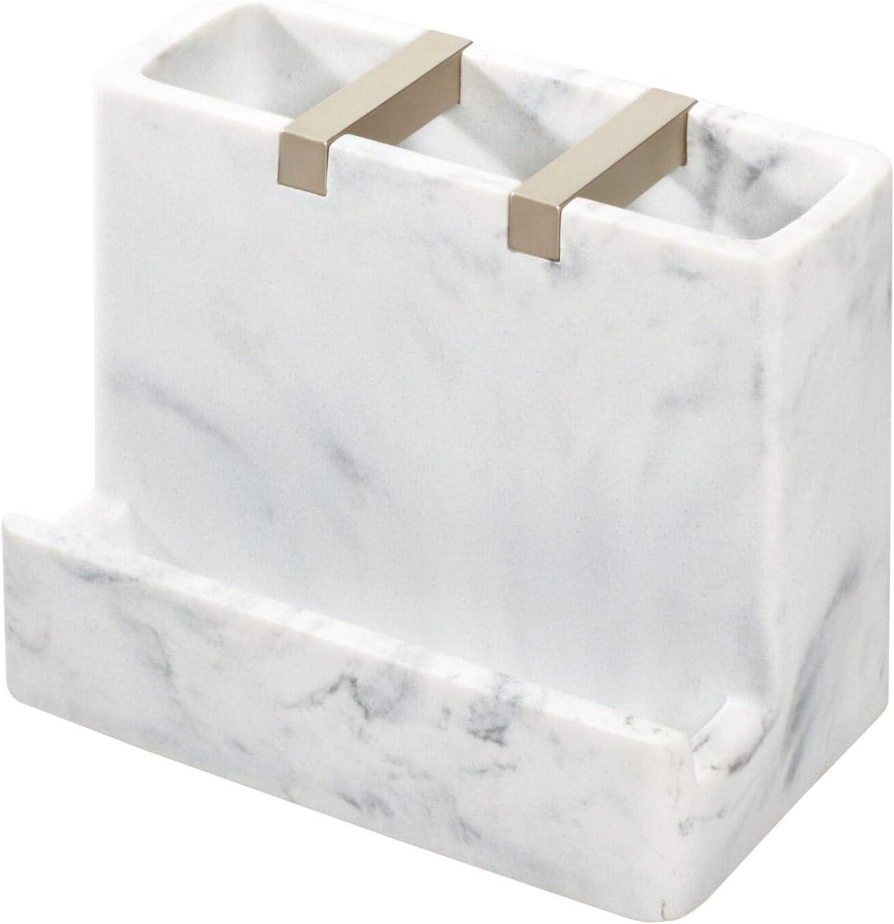 iDesign 28250 Regular dealer Gifts Dakota Resin Marble Center Toothbrush Vanity for
