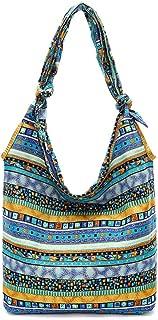 Bohemian Cotton Hippie Shoulder Bag Thai Top Zip Sling Crossbody Bag Hobo Bag Handmade Messenger Purse