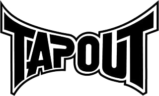 "Tapout 4"" to 24"" One Color Vinyl Decal Sticker"