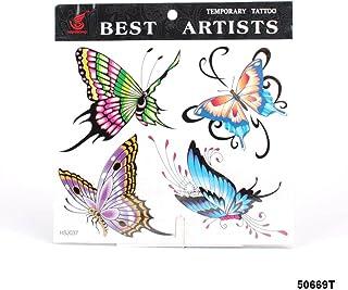 * * grandes tatuajes Mariposas en verde, azul y lila