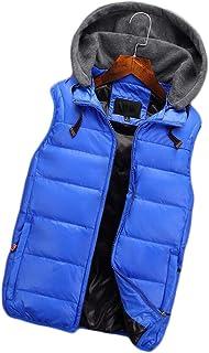 秋と冬のダウンベスト男性の若者の厚く暖かいルーズスポーツダウンベスト (色 : Sky blue, サイズ さいず : XL)