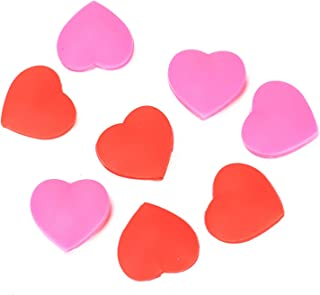 AQUEENLY Tennis Dampeners 8 PCS Heart Shaped Dampeners for All Racket Brands (Red, Pink)
