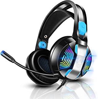 Gaming Headset PS4 Headset with 7.1 Surround Sound, PHOINIKAS Xbox One Headset, Over Ear Headphone with Noise Canceling Mi...