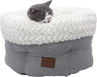 Miss Meow Cat Bed Round and Cave Shape Warming Bed