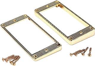 Milisten 2 Pezzi Humbucker Pickup Ring Frame Ring di Montaggio per Chitarre Elettriche Gb301 Golden