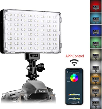 GVM RGB LED Video Light with APP Control Full Color...