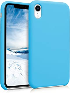 kwmobile TPU Silicone Case for Apple iPhone XR - Soft Flexible Rubber Protective Cover - Light Blue