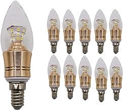 Mengjay 10x E14 Edison-gloeilamp, wolfraamlamp, SMD-glazen schaal, 5 W koudwit 6000 k (niet dimbaar)