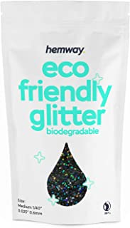 Eco Friendly Glitter - 40 - 100G (Black Holographic)