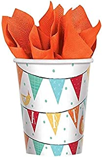 Amscan Barnyard Birthday Cups, 9 oz, Multicolor