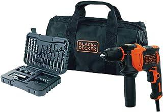 BLACK+DECKER BEH710SA32-QS Taladro percutor 710W + Set 32 Accesorios para atornillar y taladrar + Bolsa de Transporte, 710 W