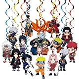 Anime Ninja Party Supplies Decorations 30 Pack Foil Ceiling Hanging Swirls Streams Party Banner Decor for Kids Adults Fashion Anime Theme Birthday Celebrating Party Events Baby Shower Room Wall Decor 30 Counts