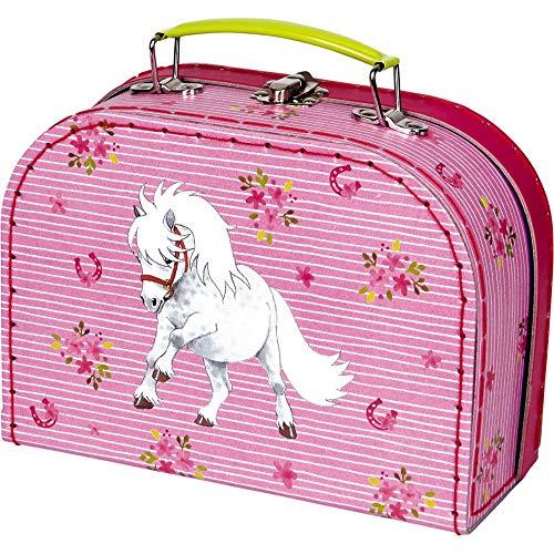 Die Spiegelburg 15204 Spielkoffer Mein Kleiner Ponyhof (weißes Shetlandpony)