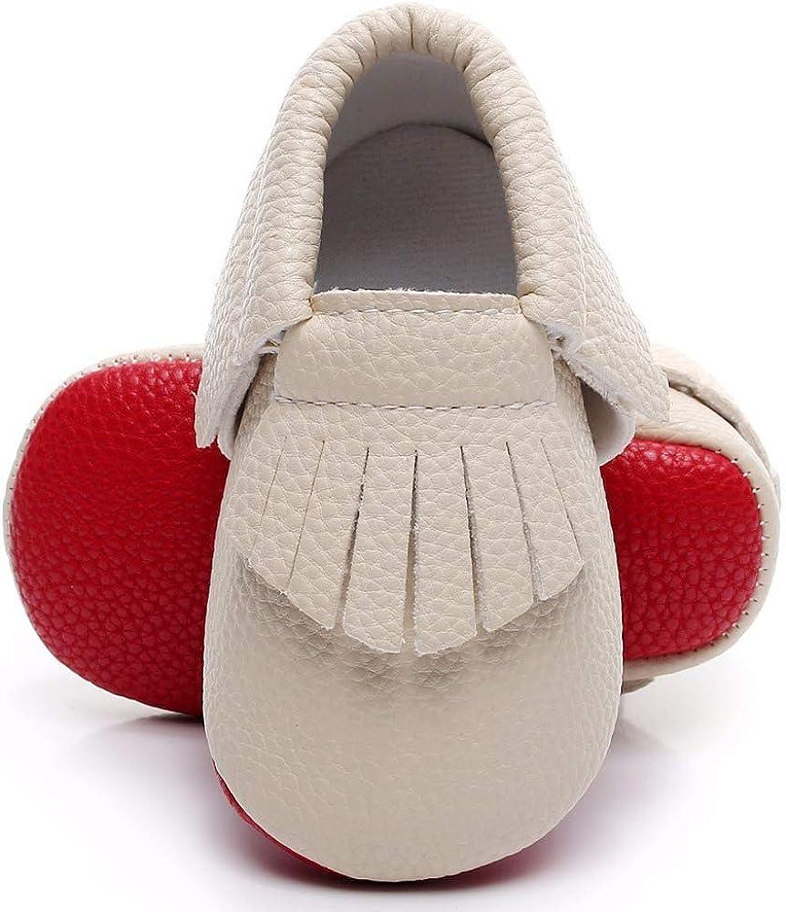 Bebila Soft Sole Baby Moccasins - Fringe Baby Girls Boys Shoes Mary Jane Flats Summer Toddler Shoes