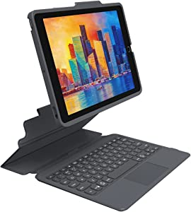 ZAGG - Pro Keys Wireless Keyboard with Trackpad and Detachable Case - Compatible with The Apple iPad 10.2