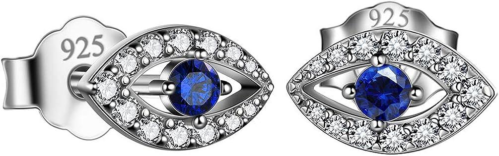 Rare Protection Symbol Evil Limited price sale Eye Jewelry for Mom Grandma E Blue Silver