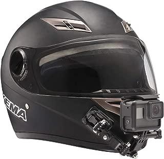 GoPro用オートバイヘルメットチンスイベル3ウェイピボット回転マウントキットHero 7、(2018)、6 5 4 3、Hero Black、セッション、Xiaomi Yi、SJCAM、およびその他のアクションカメラ