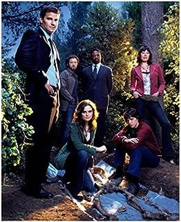 Bones David Boreanaz, Emily Deschanel and Cast in Wooded Area by Bones 8 x 10 inch photo