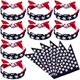 Duufin 13 Pieces American Flag Bandanas Headband USA Flag Clothing Bandana Patriotic Accessories