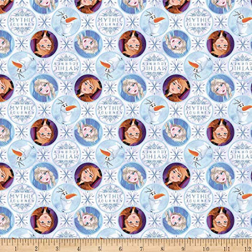 Disney Frozen 2 Mythic Journey Multi, Quilting Fabric by the Yard