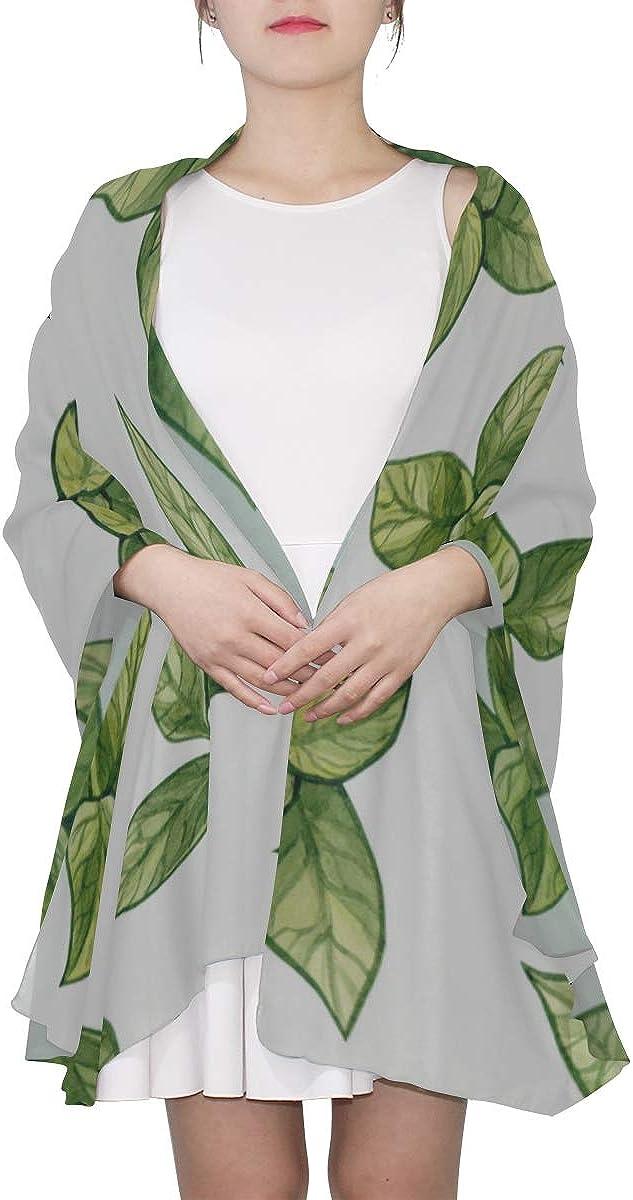 Long Scarfs For Women Green Tea Leaf Healthy Lightweight Scarf Summer Summer Scarfs For Women Lightweight Lightweight Print Scarves Lightweight Fashion Scarfs For Women Shawl Scarf Wrap
